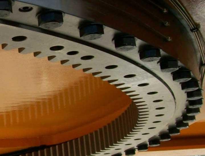 Slewing bearing rotating platform