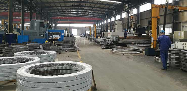 Slewing bearing production process